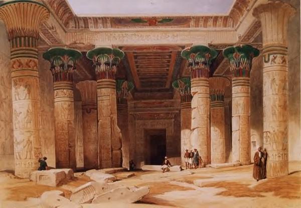 Храм в Древнем Египте.