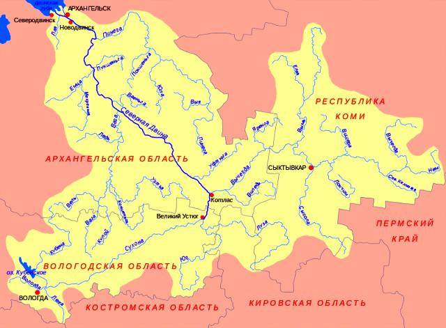 Бассейн Северной Двины.