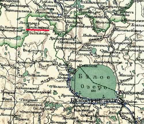 Подробная Карта Шексна