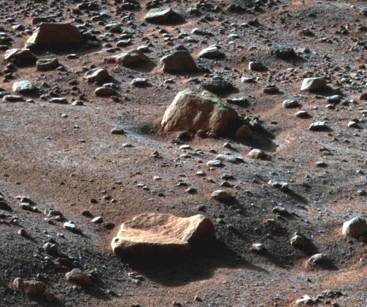Поверхность Марса крупным