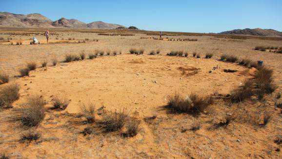 Таинственные круги в пустыне африки