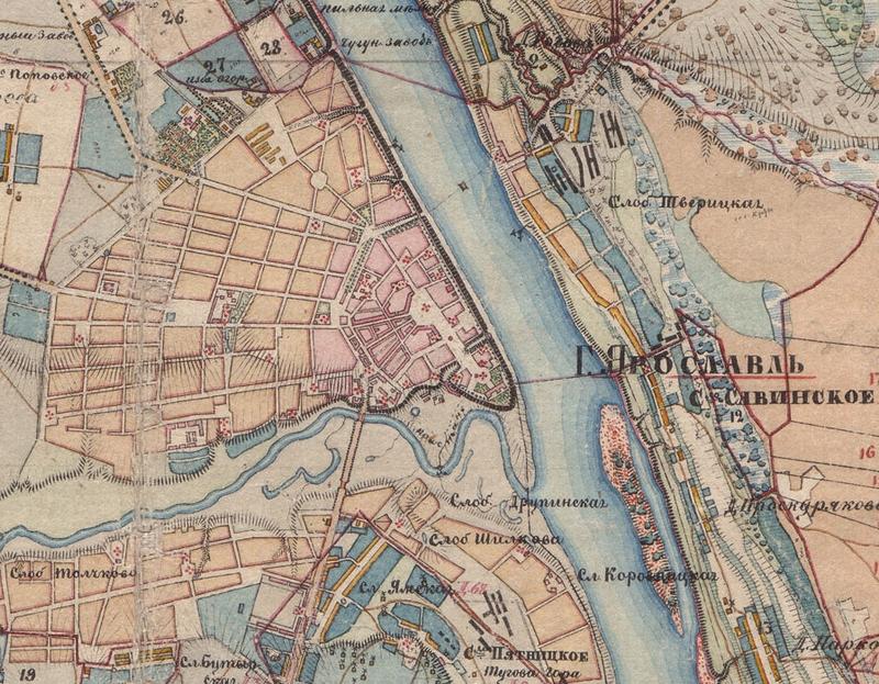 Карта Ярославля первой